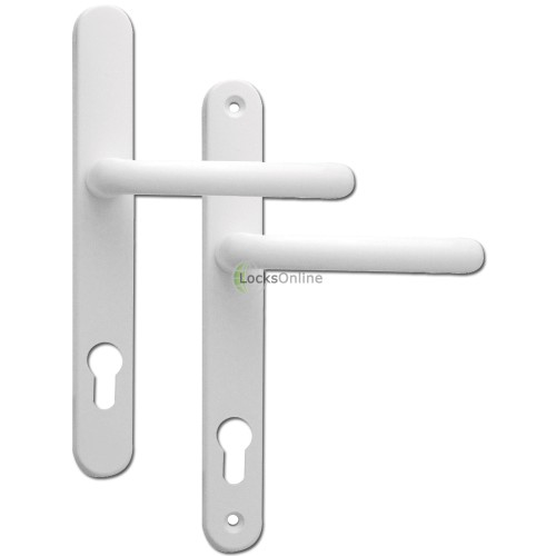 Main photo of Fab & Fix Offset 92/62 PZ Ashford uPVC Handles - 243mm (211mm fixings)
