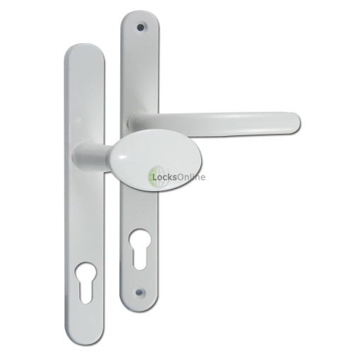 Main photo of Fab & Fix 92pz Ashford Lever & Pad uPVC Handles - 243mm (211mm fixings)