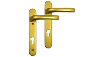 Mila Prolinea 92mm PZ uPVC Door Handles - 220mm (122mm fixings)