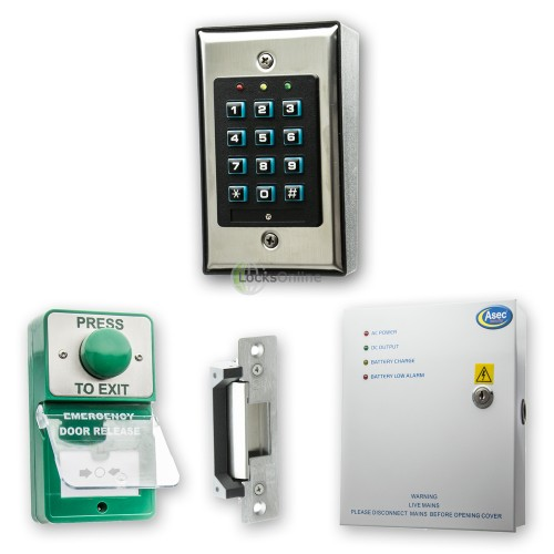 Main photo of Internal Door Budget Keypad Access Kit with Exit Buttons & Release