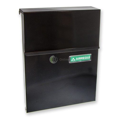 "Main photo of ARREGUI ""Line"" Modern Hooded Metal Mailbox"