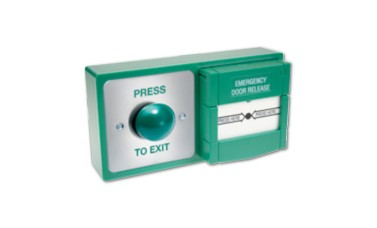 Combined 2-in-1 Emergency Call Point & Exit Button