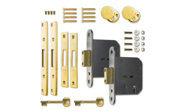 Pair of 5-Lever Dead Locks for Up & Over / Canopy Garage Doors