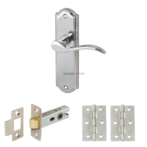 Main photo of Elegance Handle Set with Latch & Hinges