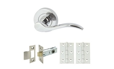 Elegance Floating Handle Set with Latch & Hinges