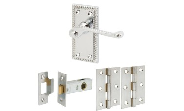 Georgian Style Handle Set with Latch & Hinges