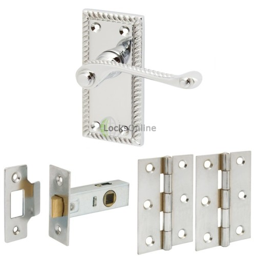 Main photo of Georgian Style Handle Set with Latch & Hinges