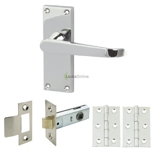 Main photo of Straight Victorian Handle Set with Latch & Hinges