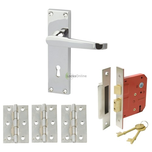 Main photo of Straight Victorian Handle Set with Sash Lock & Hinges