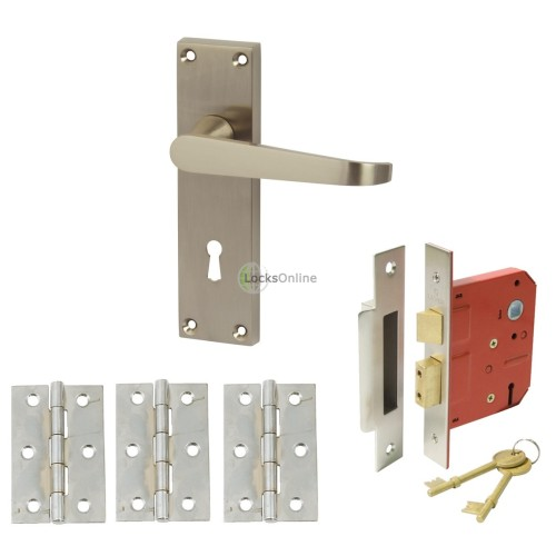 Straight Victorian Handle Set with Sash Lock & Hinges