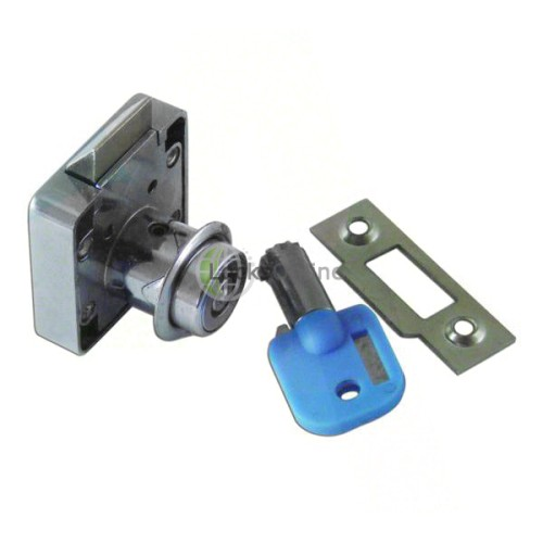 Main photo of Spring-Bolt Till Security Lock with Metal Strike / Keep Plate