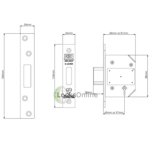 UNION Strongbolt 5 Lever Mortice Deadlock