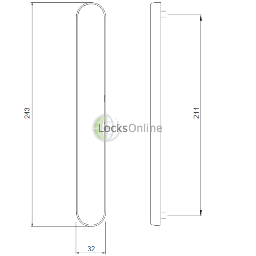 Handle Blanking Plate for uPVC Doors