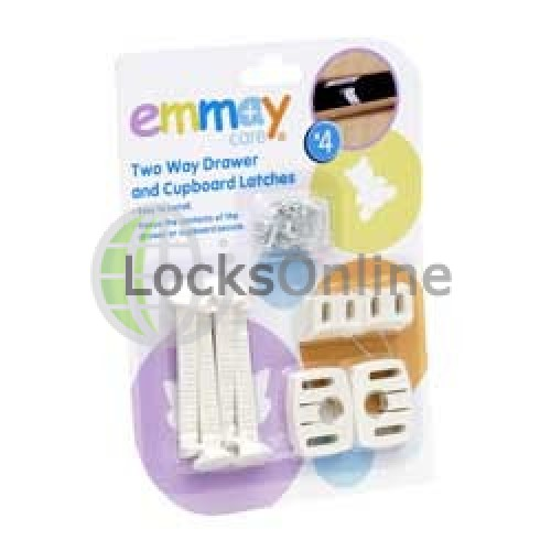 Main photo of Emmay Child Proof 2 Way Cupboard and Drawer Latches