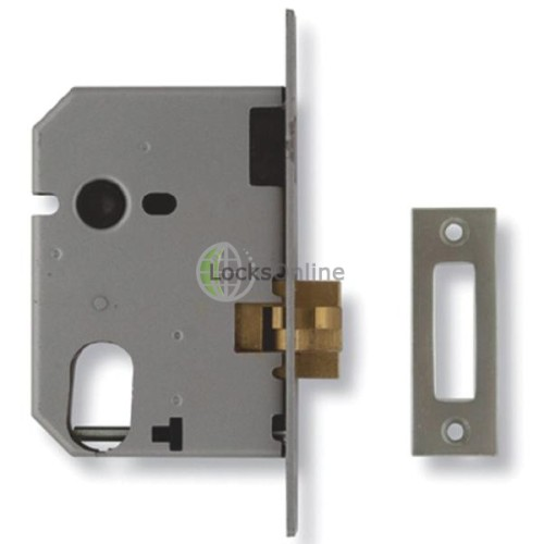 Main photo of Union L2441 Oval Profile Mortice Sliding Door Lock