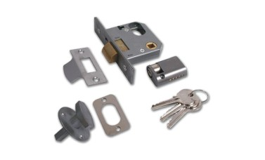 Union 2332 Mortice Nightlatch cw Cylinder and Turn