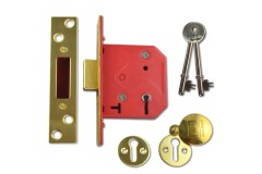 UNION C-Series 2101 Fire-Rated 5 Lever Deadlock - Keyed Alike