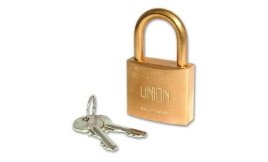 Union 3102  Brass Body Padlock