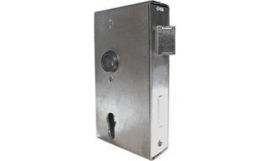 AMF Locks For Swing Gates with steel box for welding to gate frames