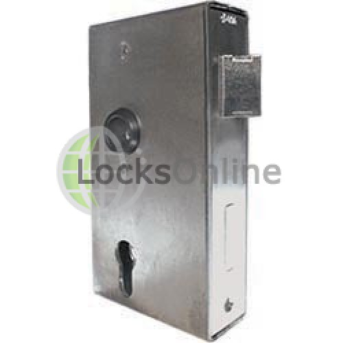 Main photo of AMF Locks For Swing Gates with steel box for welding to gate frames