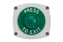 Surface Mounted Press To Exit Green Dome Button