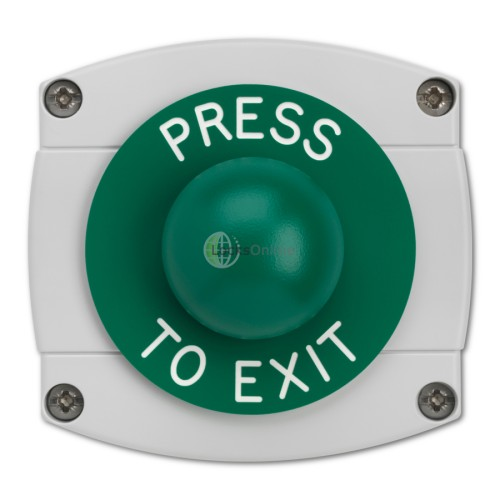 Main photo of Surface Mounted Press To Exit Green Dome Button