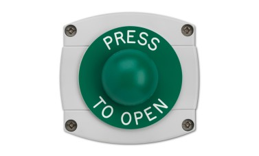 Surface Mounted Press To Open Green Dome Button