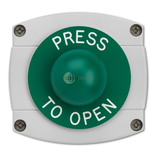 Main photo of Surface Mounted Press To Open Green Dome Button