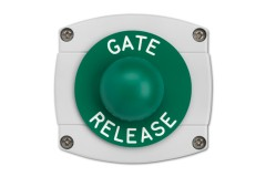 Surface Mounted Gate Release Green Dome Button