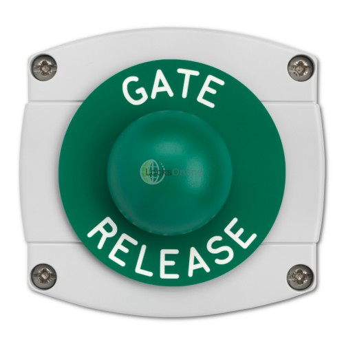 Main photo of Surface Mounted Gate Release Green Dome Button