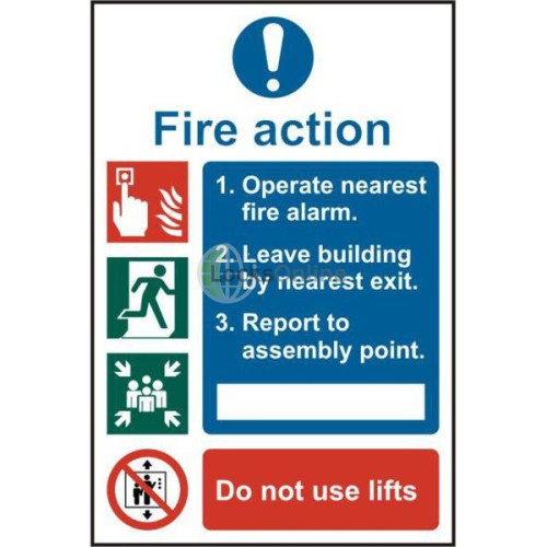 Main photo of ASEC Fire Action Procedure 200mm x 300mm PVC Self Adhesive Sign