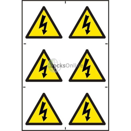 Main photo of ASEC Electrical Warning Symbol 200mm x 300mm PVC Self Adhesive Sign
