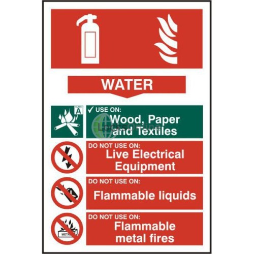 Main photo of ASEC Fire Extinguisher 200mm x 300mm PVC Self Adhesive Sign