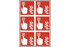ASEC Fire Alarm 200mm x 300mm PVC Self Adhesive Sign