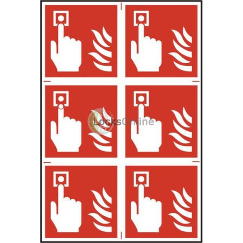 Main photo of ASEC Fire Alarm 200mm x 300mm PVC Self Adhesive Sign