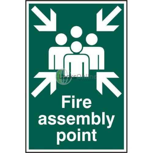 "Main photo of ASEC ""Fire Assembly Point 200mm x 300mm PVC Self Adhesive Sign"