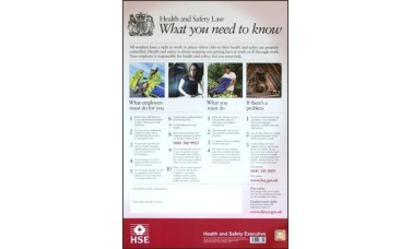 ASEC HSE01 Health & Safety Poster 800mm x 600mm PVC Sign