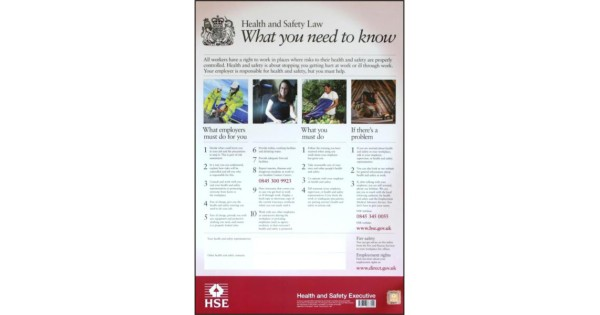 Buy Asec Hse01 Health Amp Safety Poster 800mm X 600mm Pvc