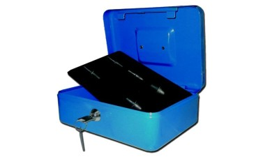 Blue Heavy Sheet Steel Cash Box