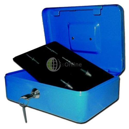 Main photo of Blue Heavy Sheet Steel Cash Box