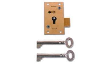 Asec No 51 4 Lever Straight Cupboard Lock