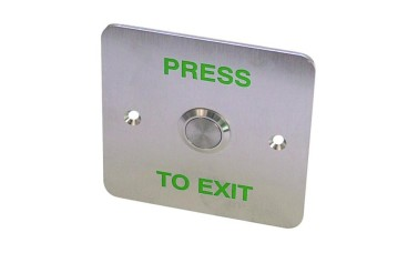 Asec EBSS02 Stainless Steel - 1 Gang Exit Button