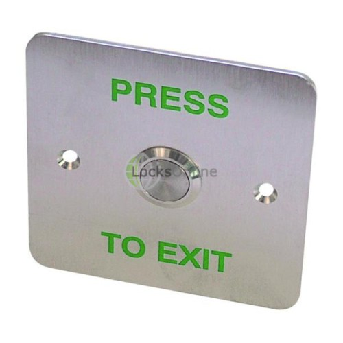 Main photo of Asec EBSS02 Stainless Steel - 1 Gang Exit Button