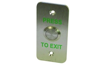 LocksOnline Stainless Steel Exit Button - Narrow style