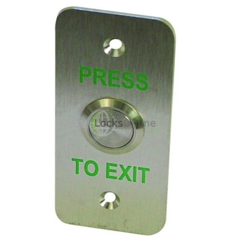 Main photo of LocksOnline Stainless Steel Exit Button - Narrow style