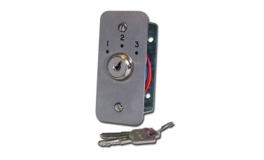Asec Three Position Narrow Key Switch Engraved
