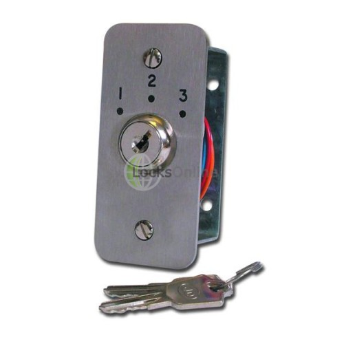 Main photo of Asec Three Position Narrow Key Switch Engraved