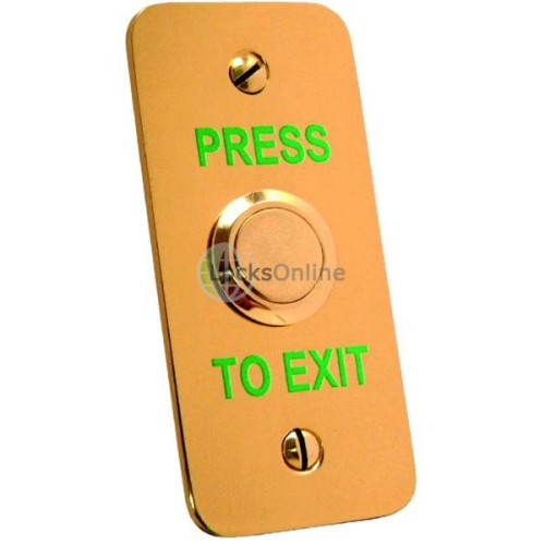 Main photo of Asec Brass Narrow Style Exit Button