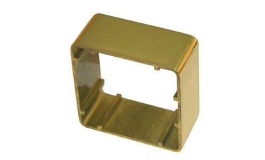 Asec 38mm 1 Gang Brass Surface Housing