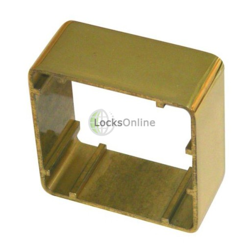 Main photo of Asec 38mm 1 Gang Brass Surface Housing